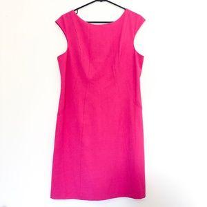 Vince Camuto Pink Cap Sleeve Career Dress